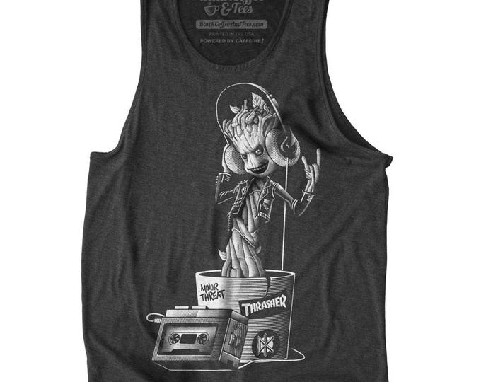Groot Shirt - I am Groot Mens Tank Top - Guardians of the Galaxy Shirt -  Baby Groot Hand Screen Printed on a Mens Tank Top -Mens Groot Tank