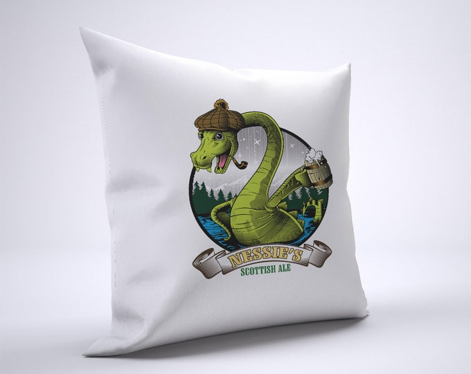 Nessie's Scottish Ale Pillow Case Size 20in x 20in