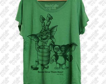 St Patricks Day Shirt- Gremlins Beer Shirt - Keg Stand - Womens St Pattys Day Shirt - Womens Craft Beer Green Dolman