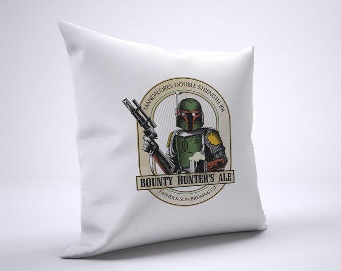 Funny Boba Fett Ale Pillow Case Size 20in x 20in