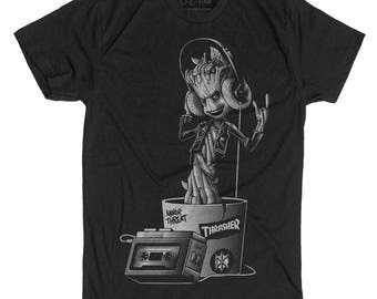 Groot Shirt -Baby Groot from Guardians of the Galaxy Hand Screen Printed on a Mens t-shirt -Teenage Groot Shirt- Baby Groot on a Mens TShirt