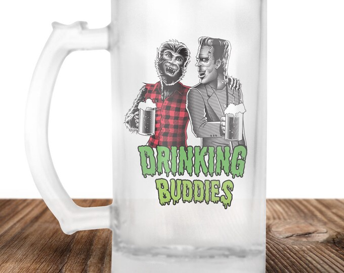 Frankenstein and Wolfman Beer Stein - Cult Horror Gift