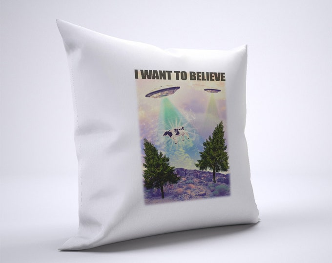 Funny UFO Pillow Case Size 20in x 20in