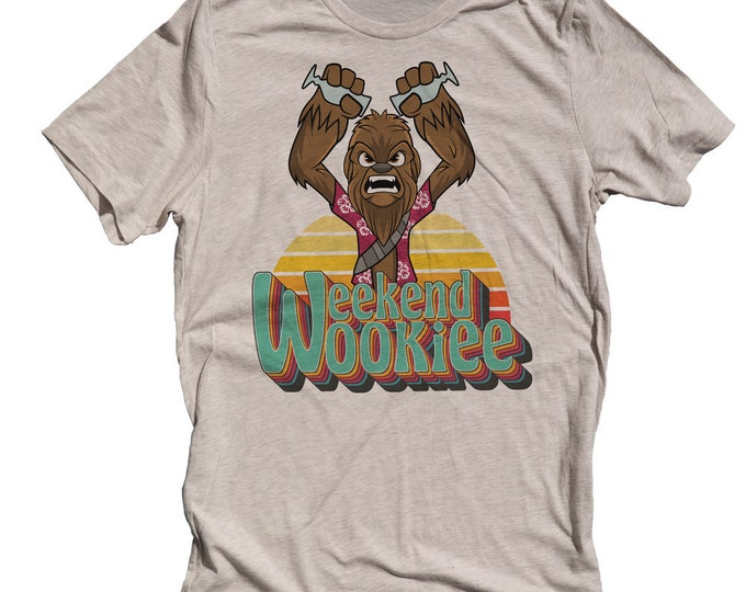 Funny Star Wars Mens T-shirt. Wookie Shirt. Mens Chewbacca Shirt. Weekend Wookie Shirt