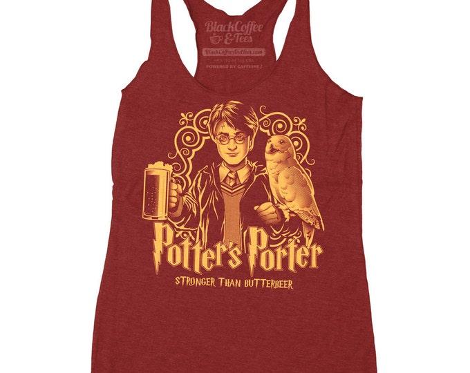 Harry Potter Shirt - Women's Craft Beer Shirt - Harry Potter Shirt beer parody Hand Screen Printed on a Womens Tank Top - Butter Beer Shirt