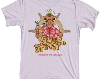 Admiral Ackbar Tiki Shirt -  Funny Star Wars Mens T-shirt