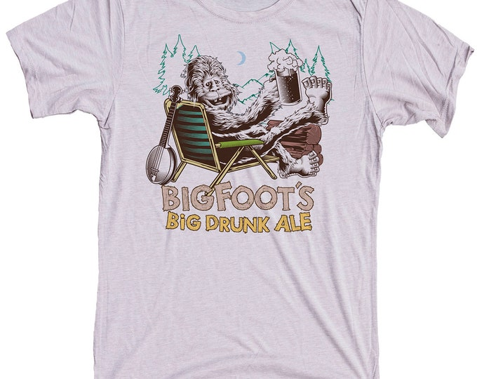 Bigfoot Shirt- Sasquatch Yeti Mens Craft Beer Shirt -