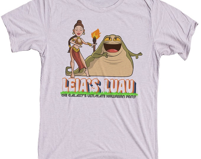 Princess Leia Tiki Shirt -  Funny Star Wars Mens T-shirt. Leias Luau