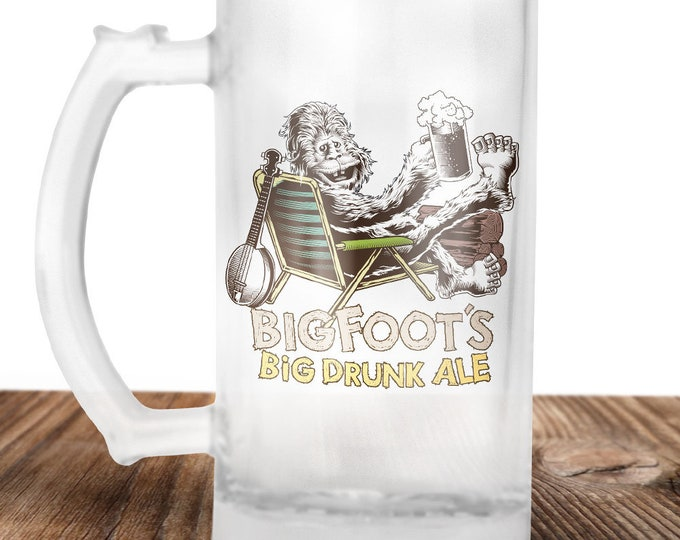 Bigfoot Beer Stein- Bigfoot Believer! -Sasquatch Gift