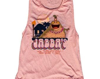 Star Wars Tiki Jabba The Hut Tank Top. Funny Jabba Shirt. Jabba The Tiki Hut
