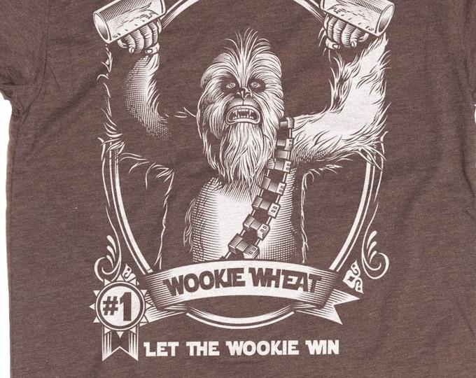 Star Wars Shirt - Chewbacca Shirt - Men's Wookie Shirt - Chewie - Wookie Wheat Hand Screen Printed on a Mens T-Shirt - Craft Beer Shirt