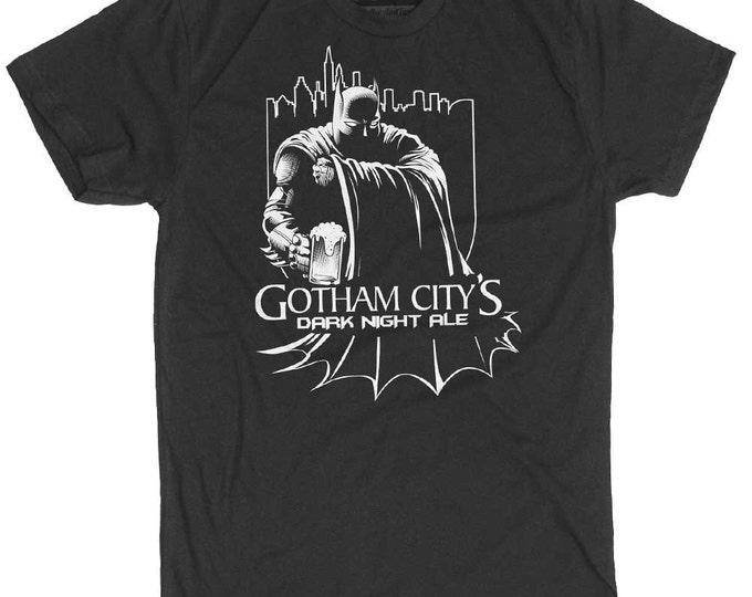 Batman Shirt- Mens Super Hero Shirt - Men's Gotham City T-Shirt- Mens Batman Beer Shirt- Mens Craft Beer Shirt - Batman/ Gothham City Shirt