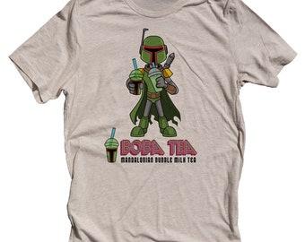 Funny Star Wars Shirt. Boba Fett Shirt for men. Boba Fett Boba Tea Shirt