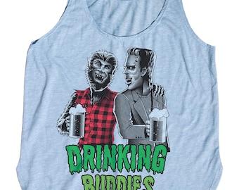 Frankenstein Wolfman Shirt - Womens Craft Beer Shirt - Printed on Womens Tank