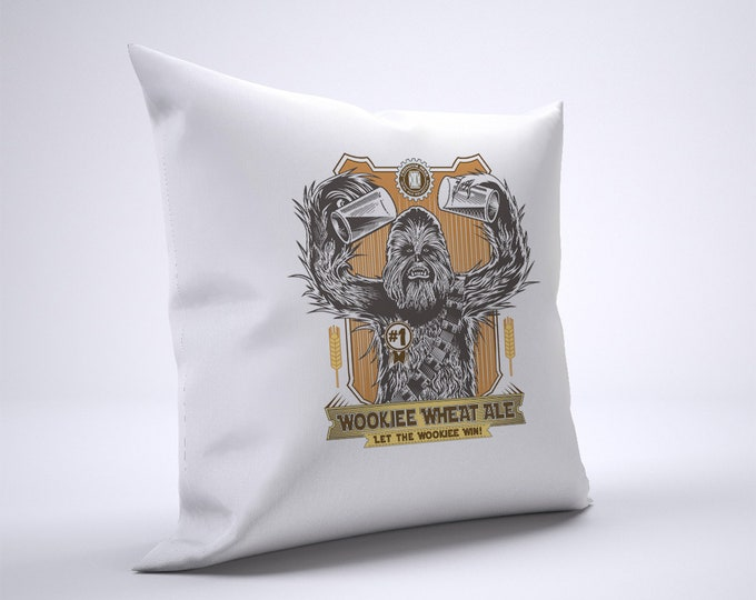 Funny Wookiee Wheat Ale Pillow Case Size 20in x 20in