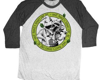 Nightmare Before Christmas Shirt - Oogie Boogie Shirt Printed on a Unisex Baseball Tee