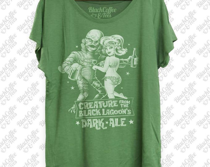 St. Patrick's - Creature from the Black Lagoon Shirt - Old Horror Film Shirt -Black Lagoon Dark Ale