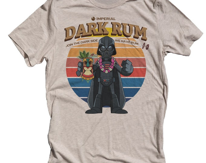 Darth Vader Tiki Shirt -  Funny Star Wars Mens T-shirt