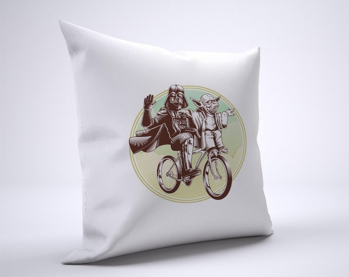 Funny Darth Vader Yoda Pillow Case Size 20in x 20in