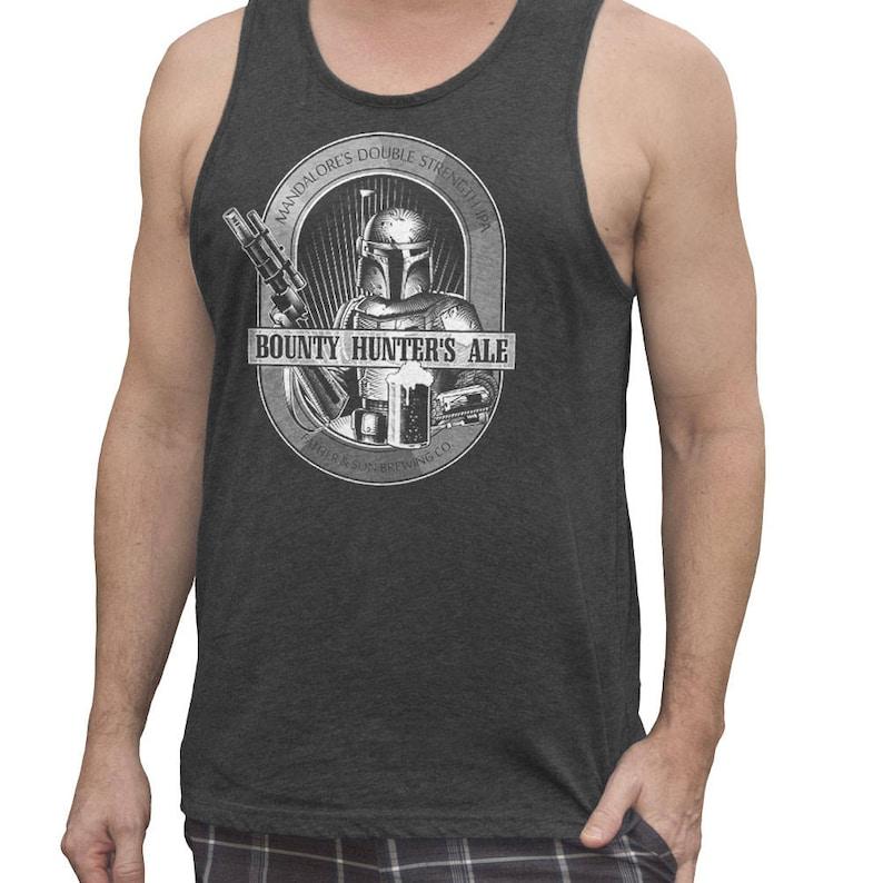 fdac6274184d8 Star Wars Shirt Mens Boba Fett Bounty Hunter Ale Hand Screen