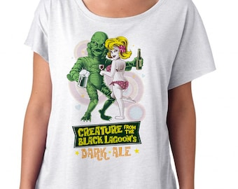 Creature from the Black Lagoon Shirt Printed on a Womens Dolman