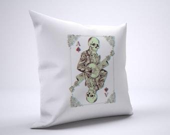 Banjo Skeleton Pillow Case Size 20in x 20in