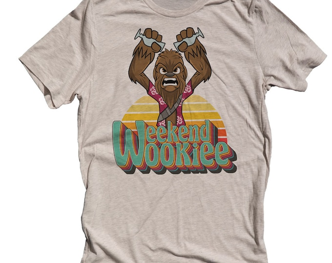 Funny Star Wars Mens T-shirt. Wookie Shirt. Mens Chewbacca Shirt. Weekend Wookie Shirt