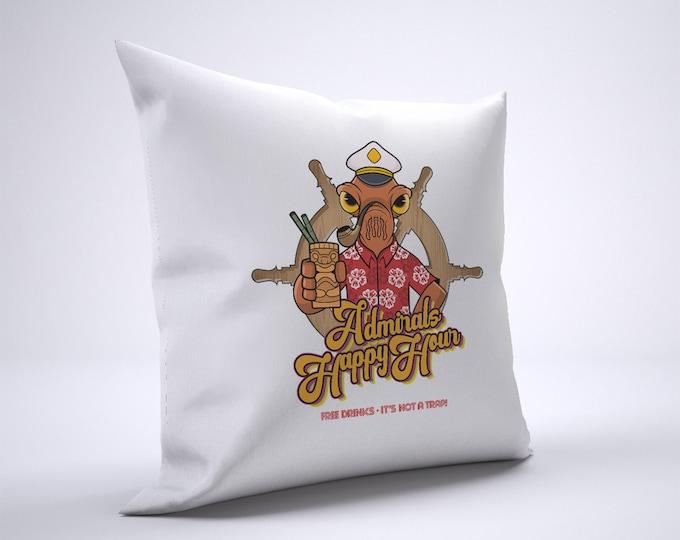 Funny Admiral Ackbar Tiki Pillow Case Size 20in x 20in