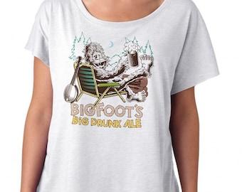 Bigfoot Shirt- Sasquatch Yeti Shirt - Womens Craft Beer Shirt