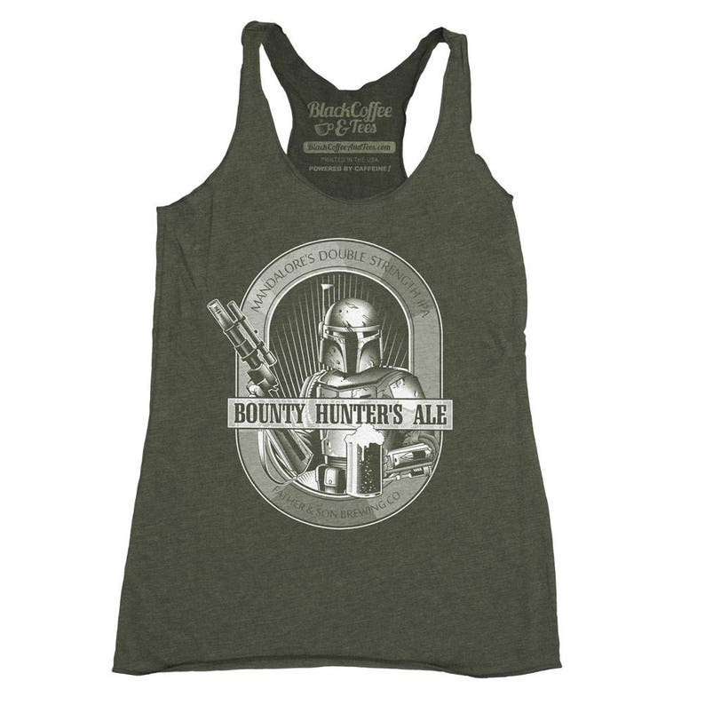 2b50b112e66cb Star Wars Beer Shirt Womens Boba Fett Bounty Hunter Ale Hand