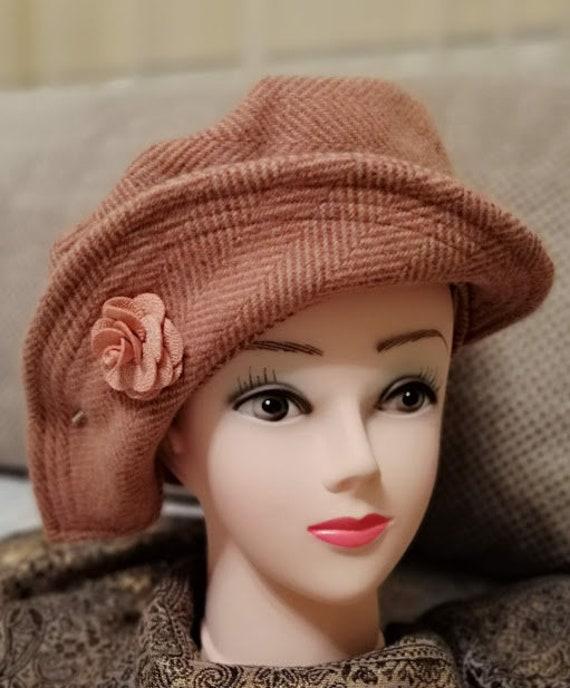All weather hat tweed hat women rain hat light  1431d9a4eb3