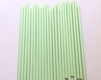 MINT CHEVRON Straws / Mint Straws / Chevron Straws / Party Straws / Paper Straws / Party Decor / Event Decor / Wedding Decor / Straws