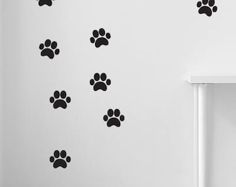 Paw Print Wall Sticker , Wall Decal