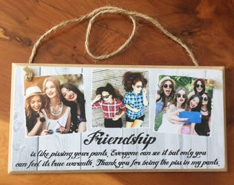 8x4 Best Friend Gift Birthday Add Your Own Photo Personalised Frame Plaque Handmade