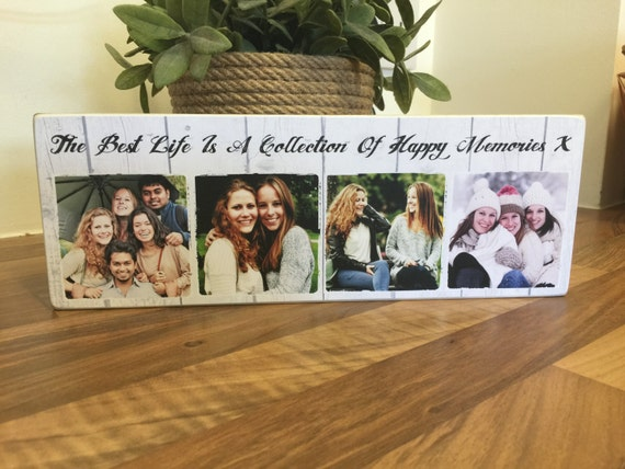 11x4/'/' personalised love photo quote plaque wedding valentines anniversary NEW