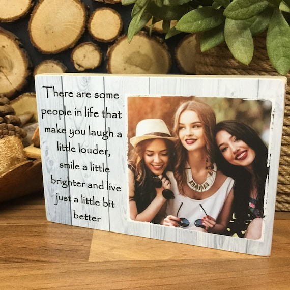 Photo gift Personalised Photo,Friendship Best Friend,Laugh,Smile,Wooden Sign