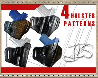 image regarding Printable Holster Patterns called Gun holster habit Etsy