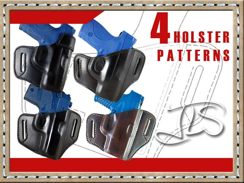 Holster Pattern DOWNLOAD for Smith Wesson M&P Shield 9mm or 40 Sig P938  Springfield XD-S