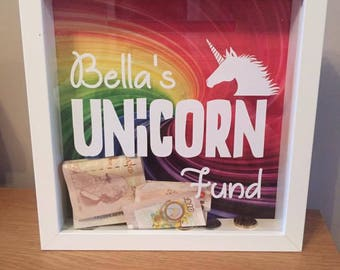 Personalised Unicorn Fund Money Box