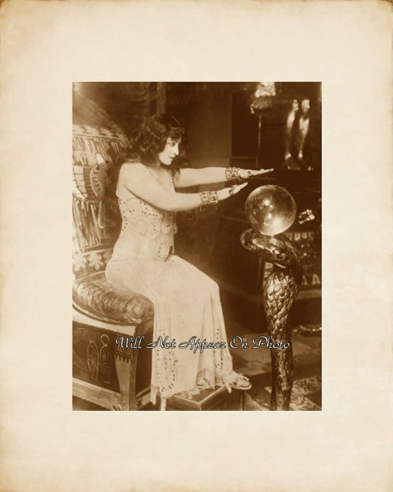 Early 1900's Gypsy Fortune Teller Magic Crystal Ball 8x10 Vintage  Photograph Reprint NW312 Buy 4 get 1 free!