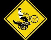Wheelie Boy on a Schwinn, T-shirt, 70 39 s, style, vintage, freestyle, summer, sunshine, free, easy rider, cheech and chong