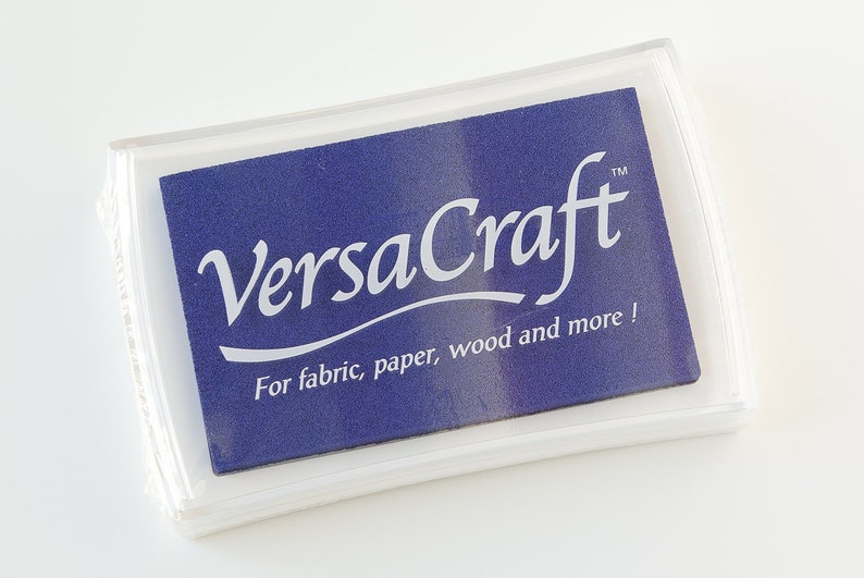 Ink Pad Fabric Stamping Raised Ink Pad Ultramarine Color Nautical Decor VersaCraft Dark Blue