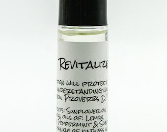 Revitalize Essential Oil Roller Bottle Blend: an essential oil blend that promotes vitality!