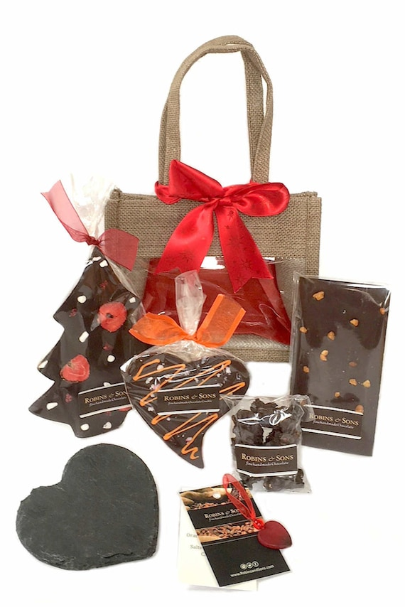 Belgian Dark Chocolate Christmas Gift Bag Luxury Present Ideas Her Mum Women Friend Sister Grandma Nanny Stocking Filler Secret Santa
