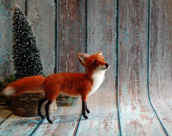 Needle Felted Fox - Made To Order - Wool Animal Sculpture -