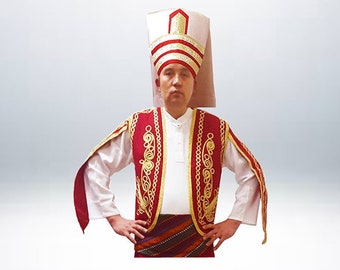 1 Janissary Hat 1 Ottoman Vest Waist Waistcoat DANCER DANCE EXOTIC
