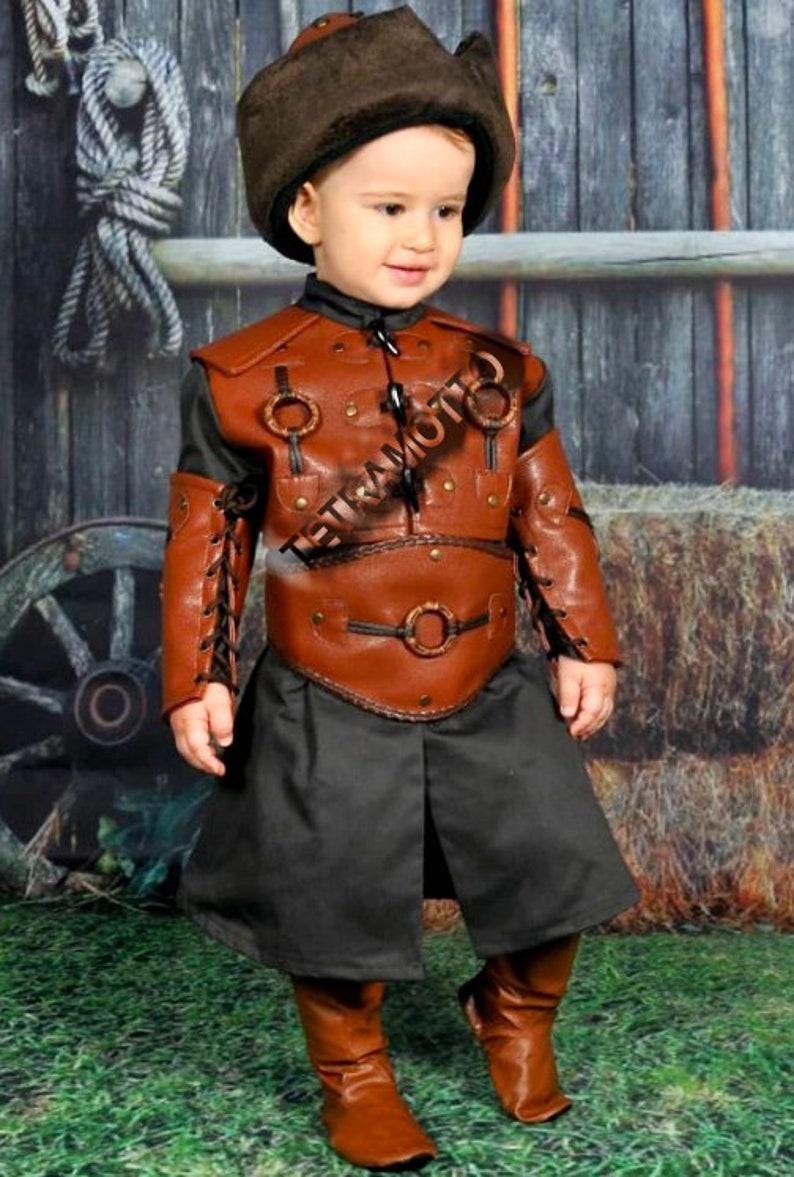 Brown Dirilis costume for kids  MEC14789