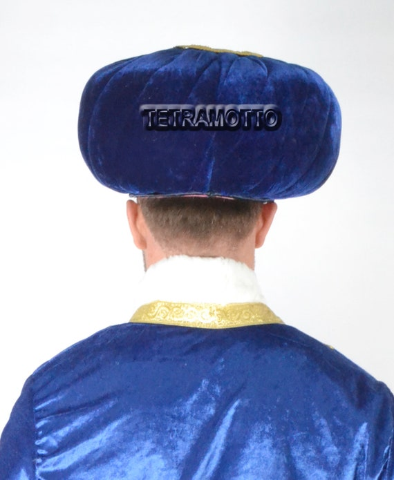 Turkish Ottoman Bork Hat Ertugrul Dirilis Fur Leather Ottoman Coat of Arms #2001