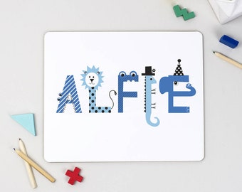 Children's Name Placemat - personalised - christening gift - personalised childrens gift - 1st birstday - birthday party decor - name gifts
