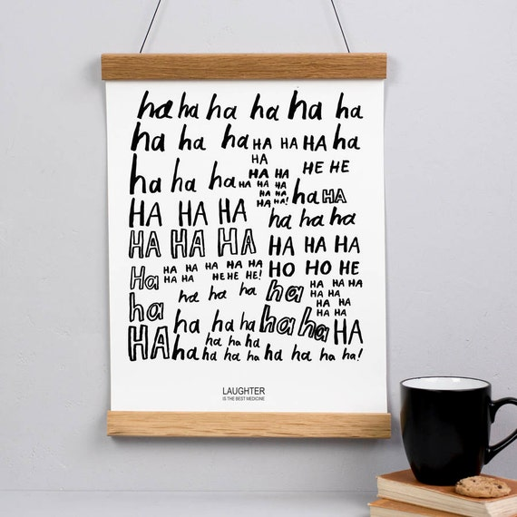 Laughter Is The Best Medicine Print Wall Art Quotes Etsy